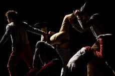 """PRESENTATION PUBLIQUE de """"MEHDIA"""" - Compagnie Mehdia/Mehdi DIOURI - Direction artistique : Mehdi DIOURI - Assistante artistique : Céline TRINGALI - Musique : Patrice PRIVAT - Scénographie : Anne LE MOTTAIS - Lumières : Fabrice SARCY - Interprétation : Franck DAFONSECA, Mehdi DIOURI, Fabien MORVAN, Fabien PERRICHON, Fabio ROSSI - Au Studio du CCN de Créteil - Le 17 février 2017 - Photo : Benoîte FANTON"""